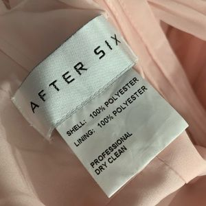 After Six Dresses - After Six 6760 halter bow blush bridesmaid dress